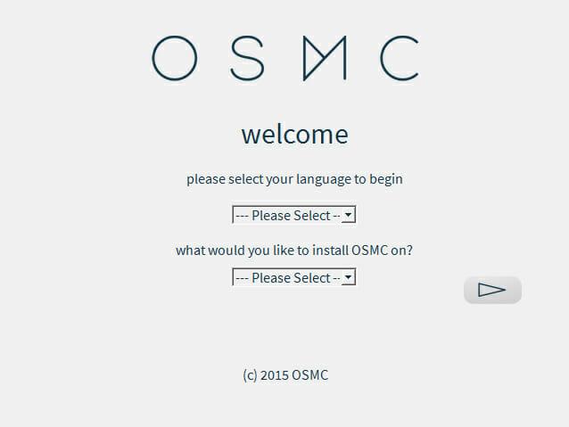 OSMC Gerät und Sprache