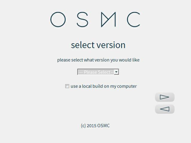 OSMC Version auswählen