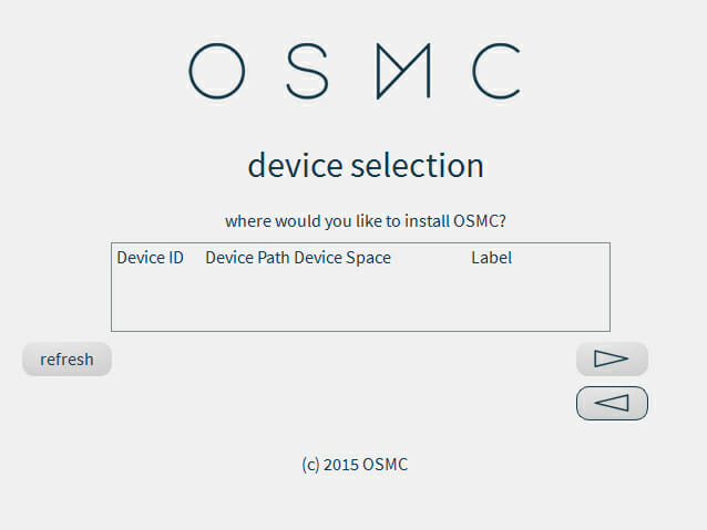OSMC Installationsmedium