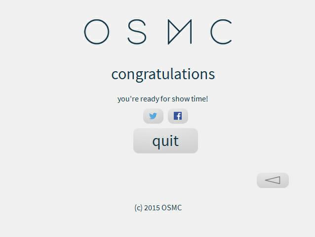 OSMC nach der installation