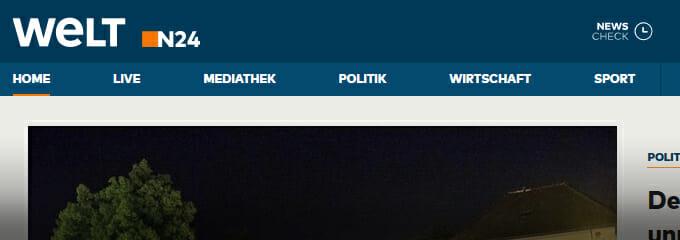Welt N24 neue Webseite