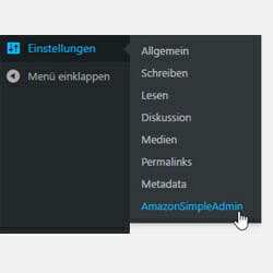 Amazon Simple Admin Einstellungen