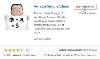 Amazon Simple Admin Plugin
