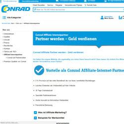 Conrad Partnerprogramm