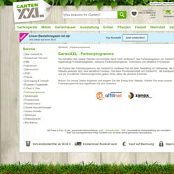 GartenXXL Partnerprogramm