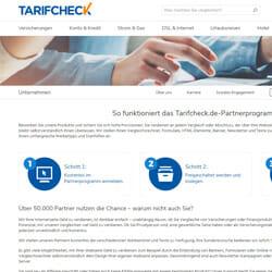 Tarifcheck Partnerprogramm
