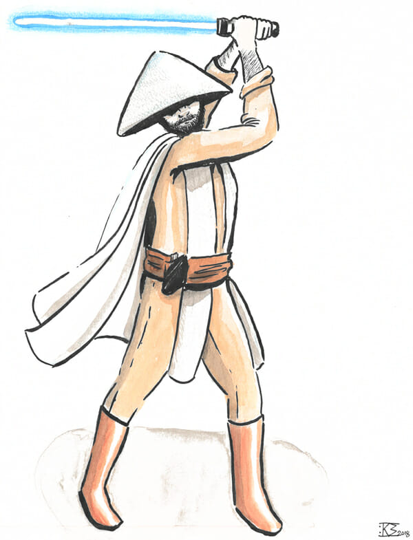 White Hat Jedi - Fanart by V.Bos